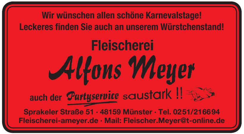 Fleischerei Alfons Meyer