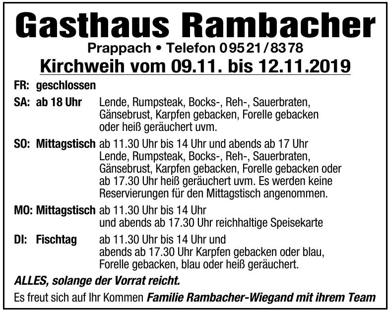 Gasthaus Rambacher