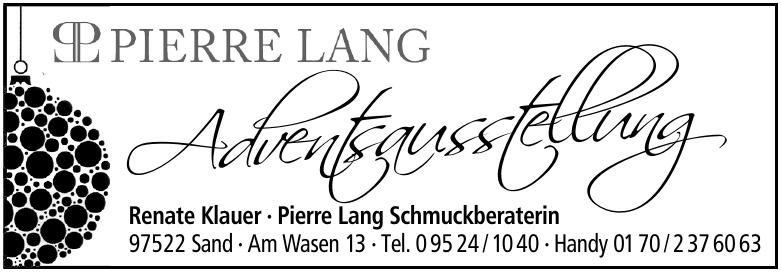 Renate Klauer - Pierre Lang Schmuckberaterin