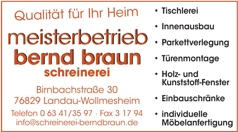 Meisterbetrieb Bernd Braun Schreinerei