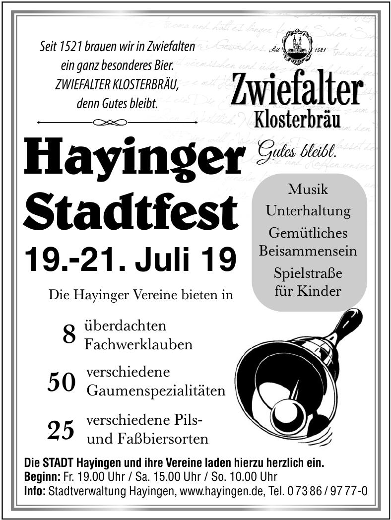 Hayinger Stadtfest