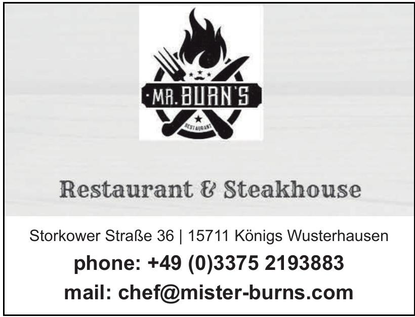 Mr. Burn's
