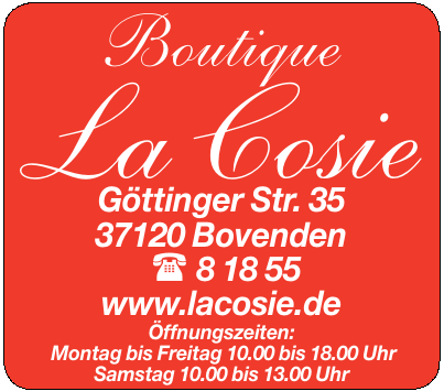 Boutique La Cosie