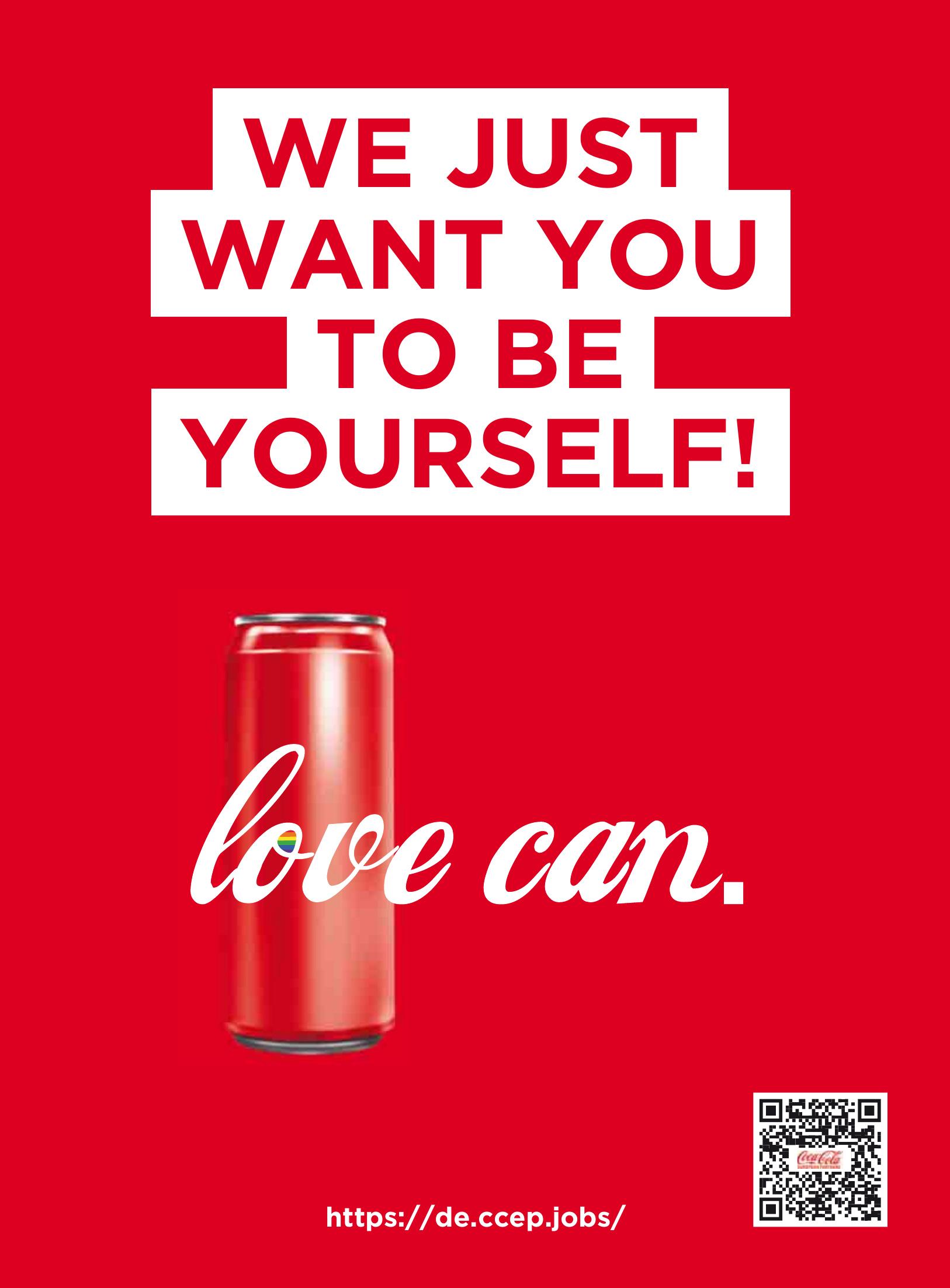 Coca Cola: love can.