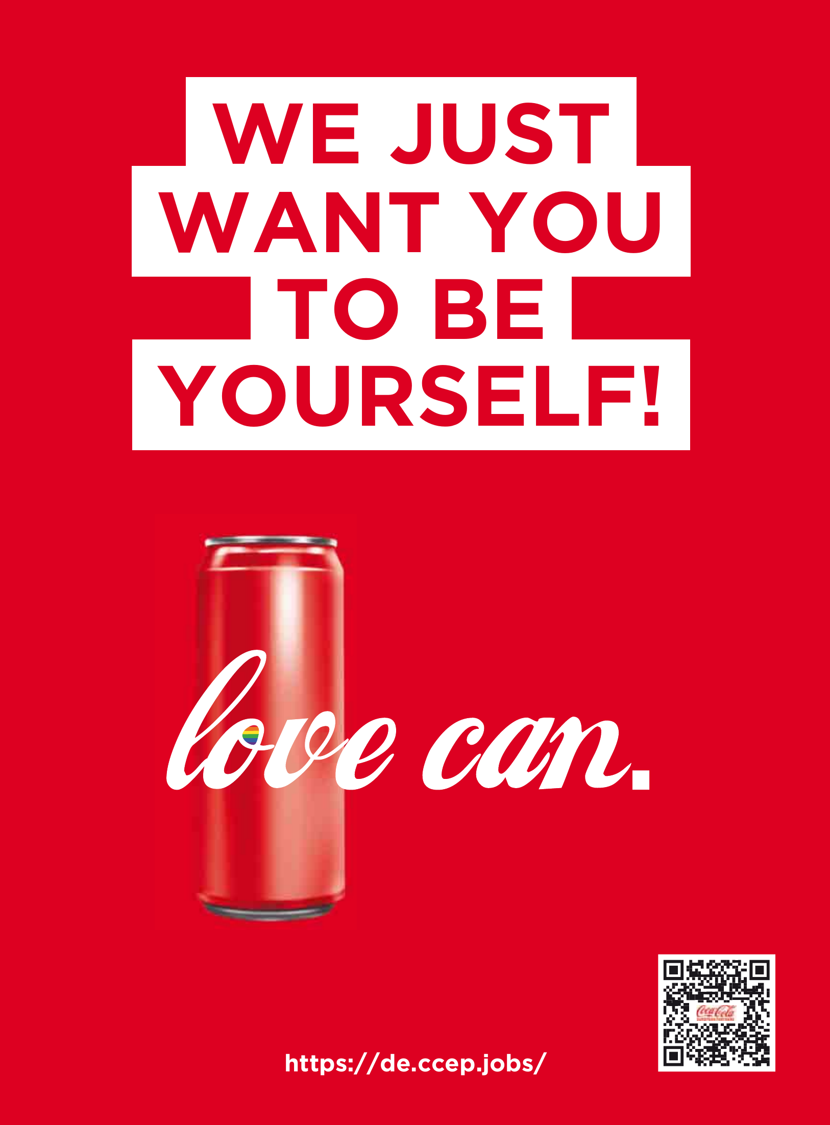Coca Cola: love can.