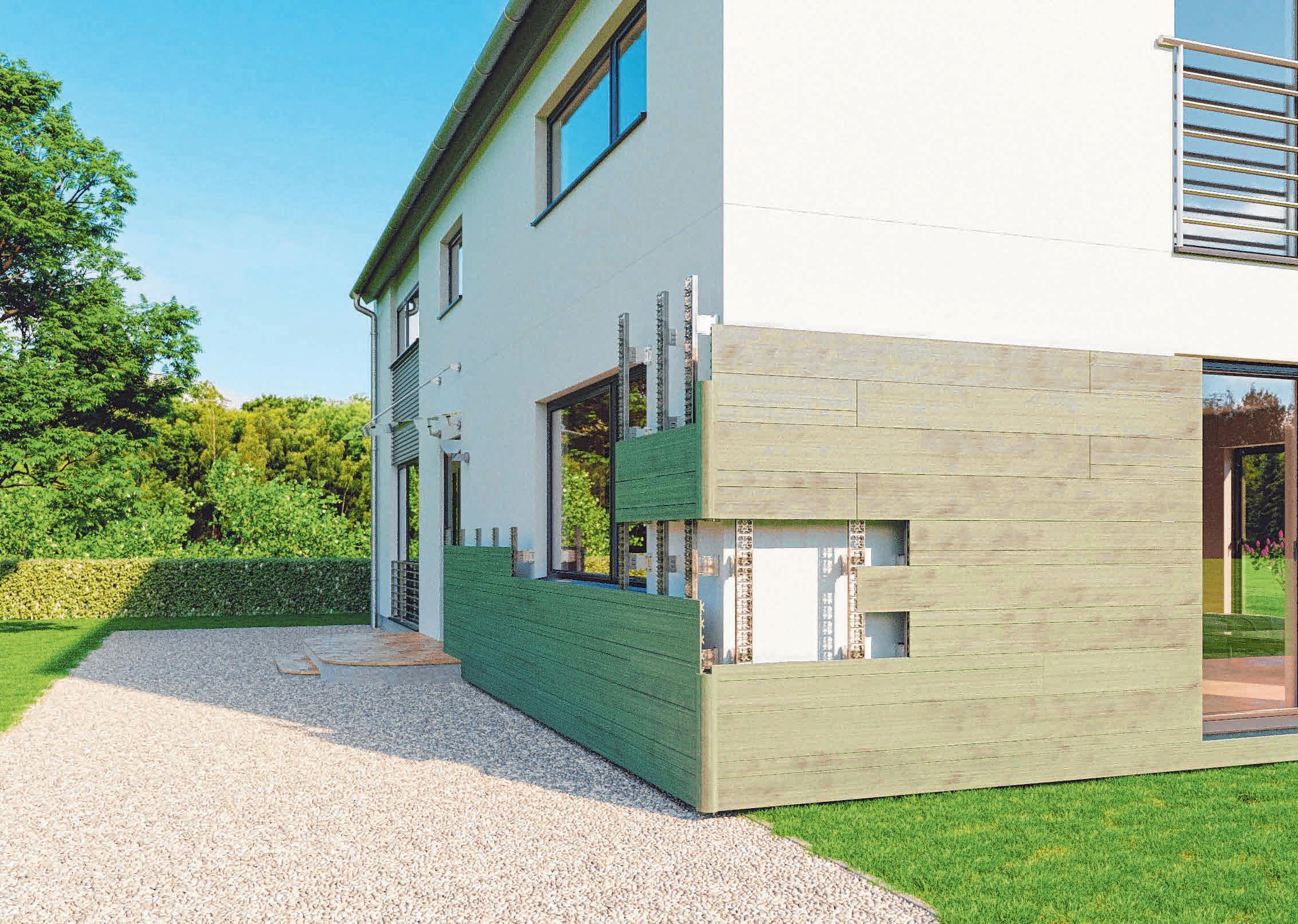 Dämmen und gleichzeitig die Optik des Eigenheims verschönern: Eine Holz-Faser-Fassade in hinterlüfteter Ausführung ermöglicht beides. FOTO:DJD/MEGAWOOD.COM