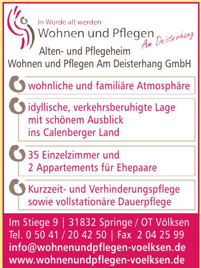 Wohnen und Pflegen Am Deisterhang GmbH