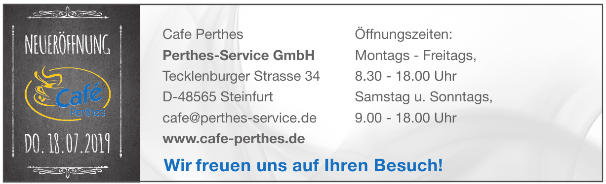 Cafe Perthes - Perthes-Service GmbH