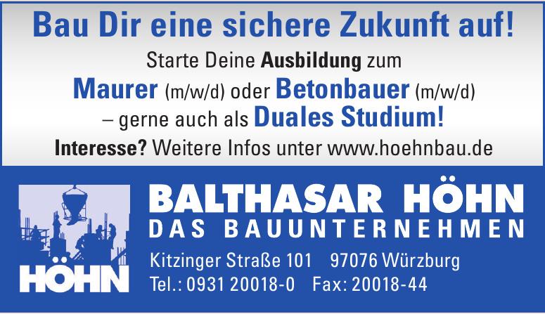 Balthasar Höhn, Das Bauunternehmen