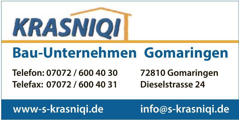 Krasniqi Bau-Unternehmen Gomaringen