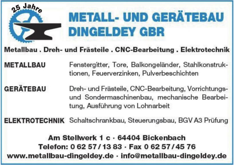 Metall- und Gerätebau Dingeldey GbR