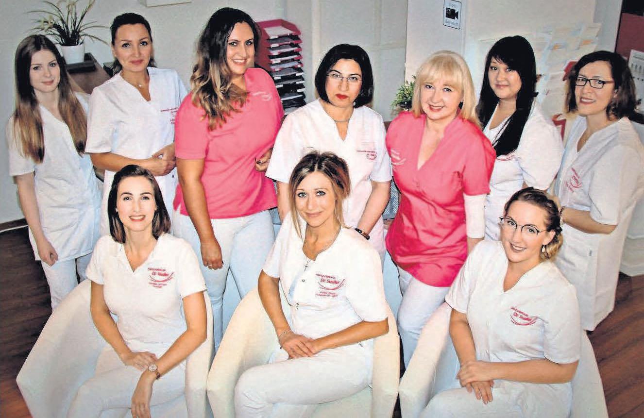 Das Podologieund Kosmetikteam von Dr. Stedler