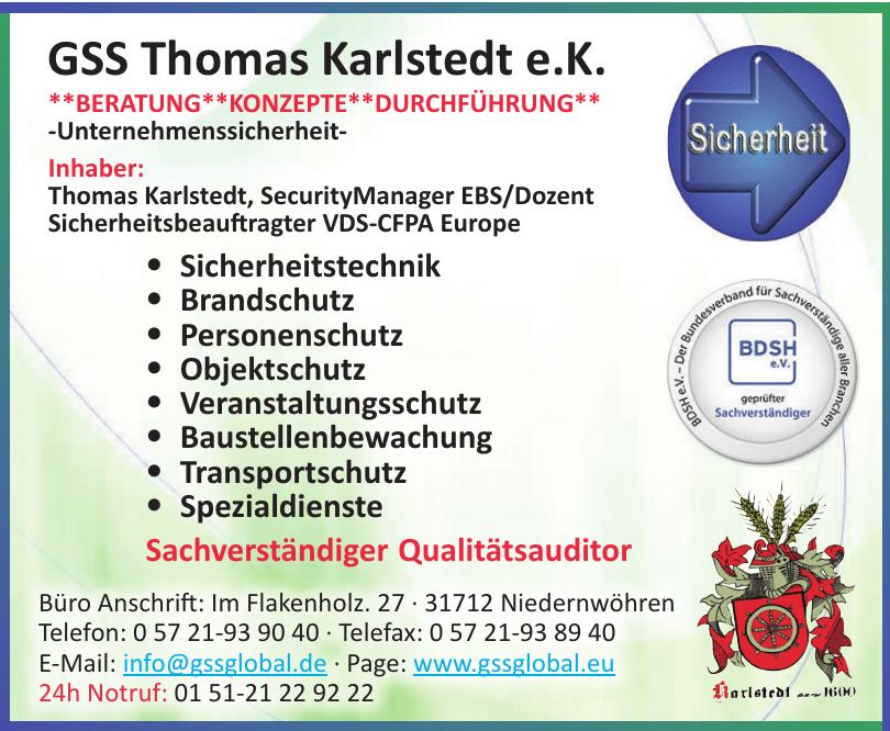 GSS Thomas Karlstedt e.K.