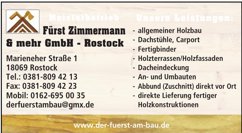 Fürst Zimmermann & mehr GmbH - Rostock