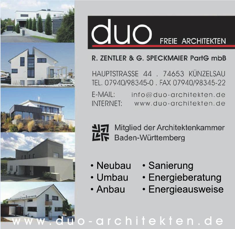 Duo Freie Architekten - R. Zentler & G. Speckmaier PartG mbB