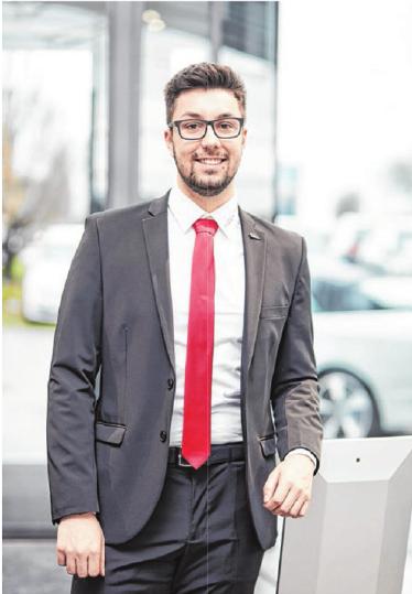 Jan André Schall, Verkäufer im Autohaus Crailsheim.