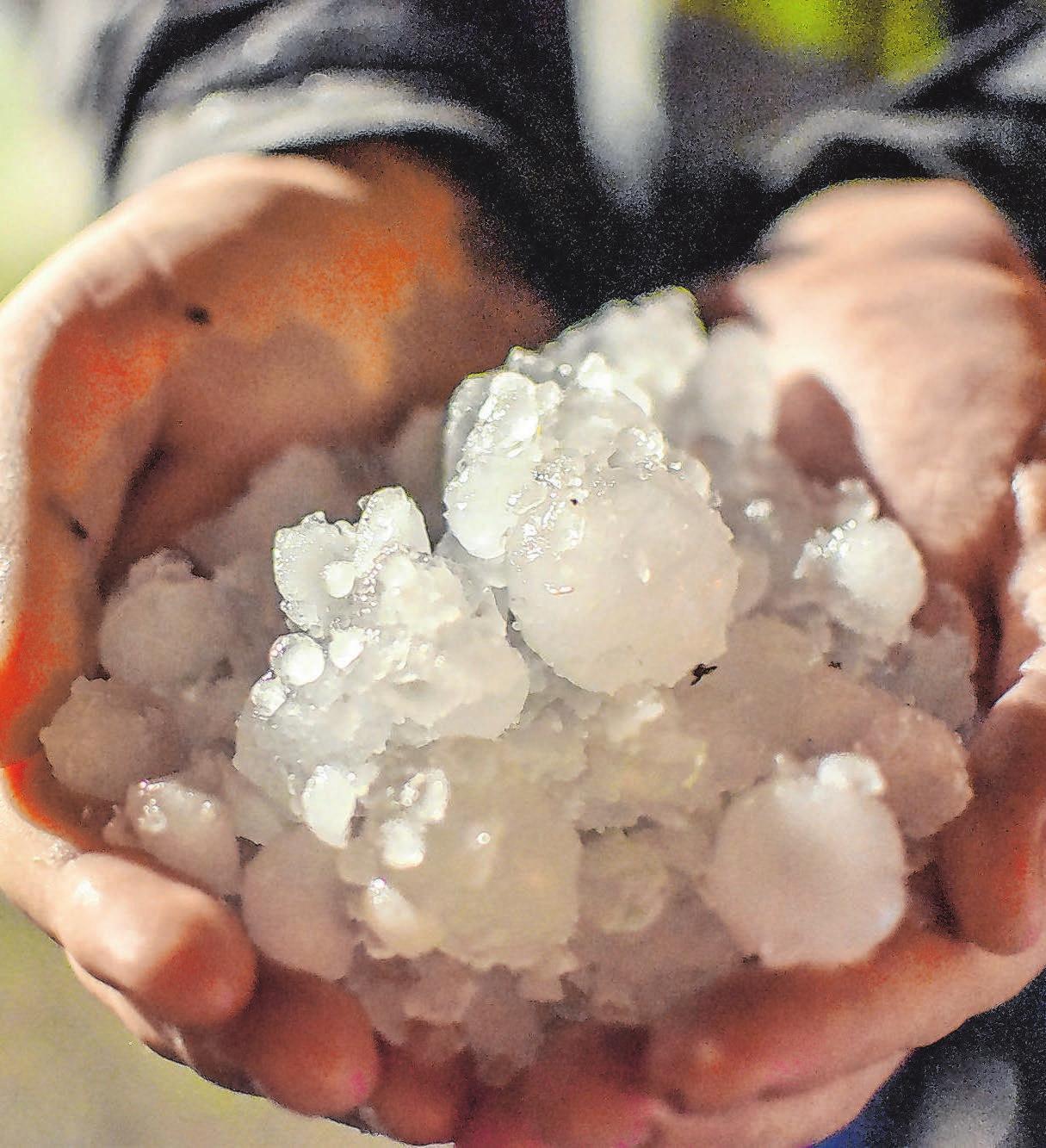 In Fichtenberg hagelte es im August heftig. Foto: Archiv