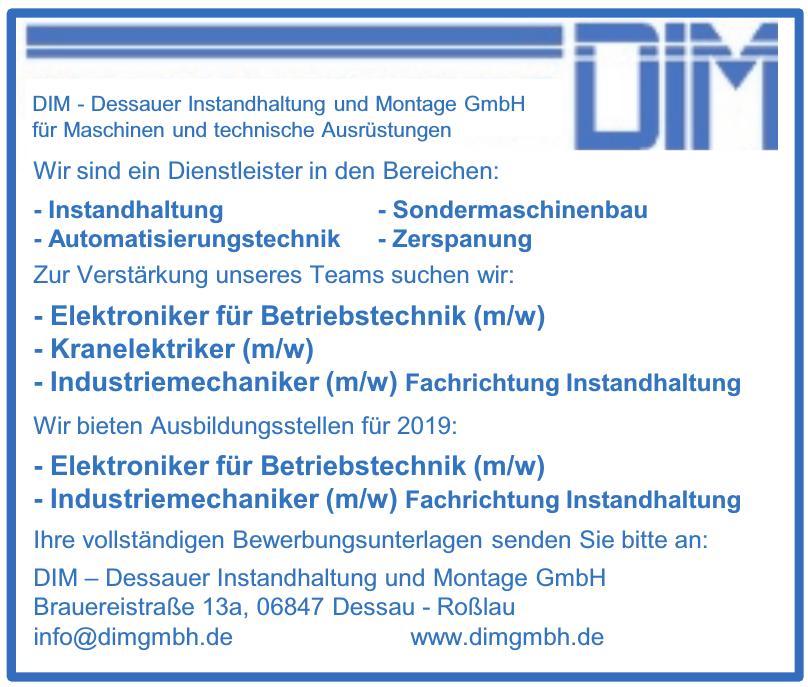 DIM – Dessauer Instandhaltung und Montage GmbH