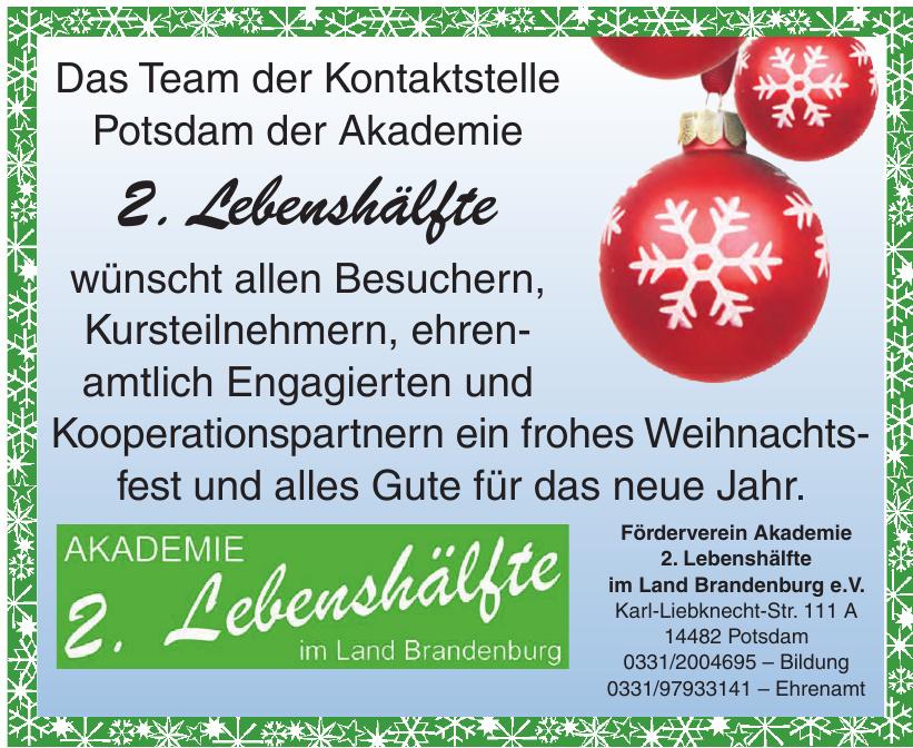 Förderverein Akademie 2. Lebenshälfte im Land Brandenburg e.V