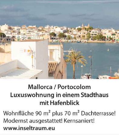 Mallorca / Portocolom - Luxuswohnung in einem Stadthaus mit Hafenblick