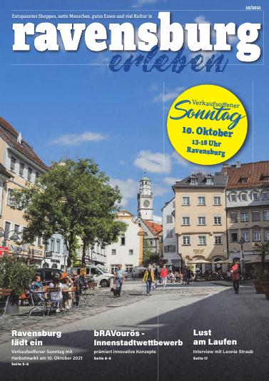 """Das neue Stadtmagazin """"Ravensburgerleben"""" wird am Freitag, 8. Oktober 2021 über die Schwäbische Zeitung verteilt. Der Südfinder veröffentlicht bereits heute erste Inhalte."""