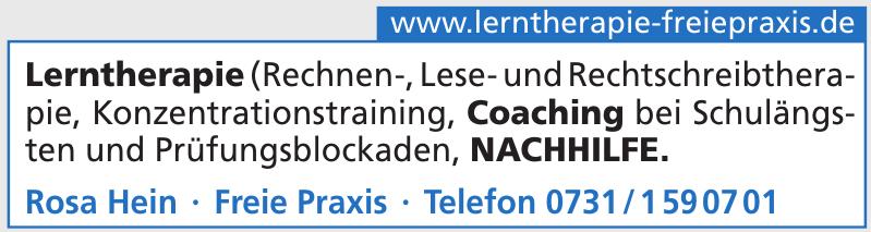 Lerntherapie Rosa Hein - Freie Praxis