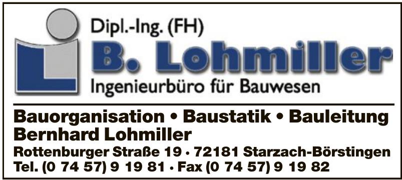 Dipl.-Ing. (FH) B. Lohmiller Ingenieurbüro für Bauwesen