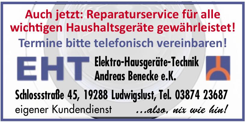 EHT Elektro-Hausgeräte-Technik Andreas Benecke e.K.