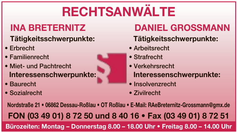 Rechtsanwälte Breternitz & Grossmann