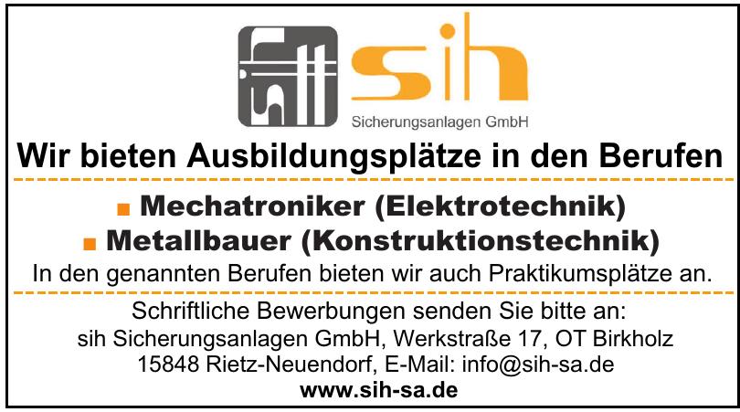 SIH Sicherungsanlagen GmbH