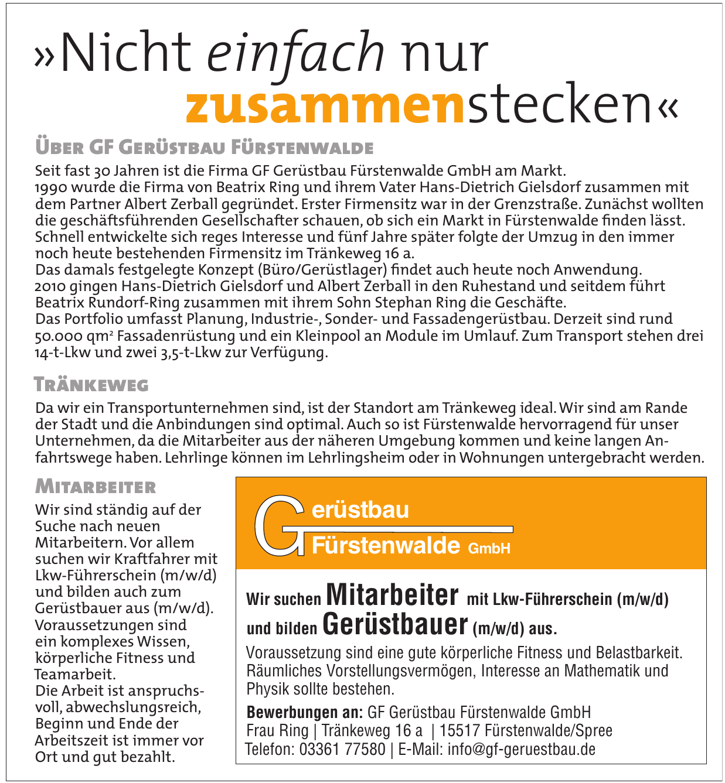 GF Gerüstbau Fürstenwalde GmbH