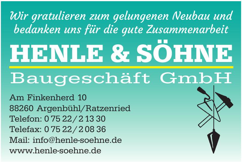 Henle + Söhne Baugeschäft GmbH