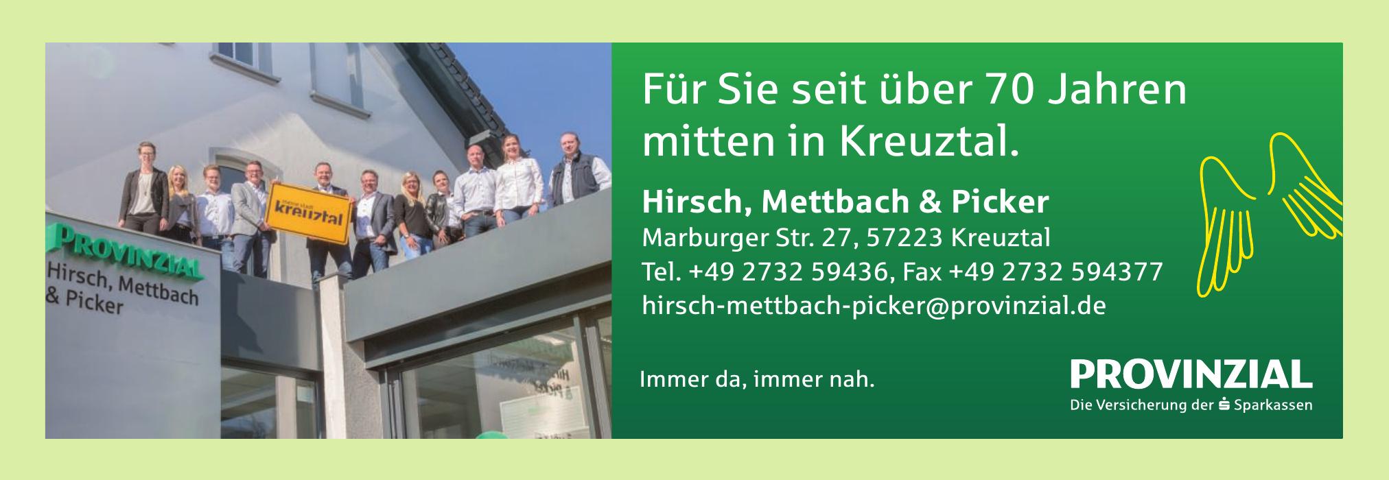 Provinzial - Hirsch, Mettbach & Picker