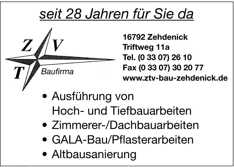 ZTV Bau Zehdenick