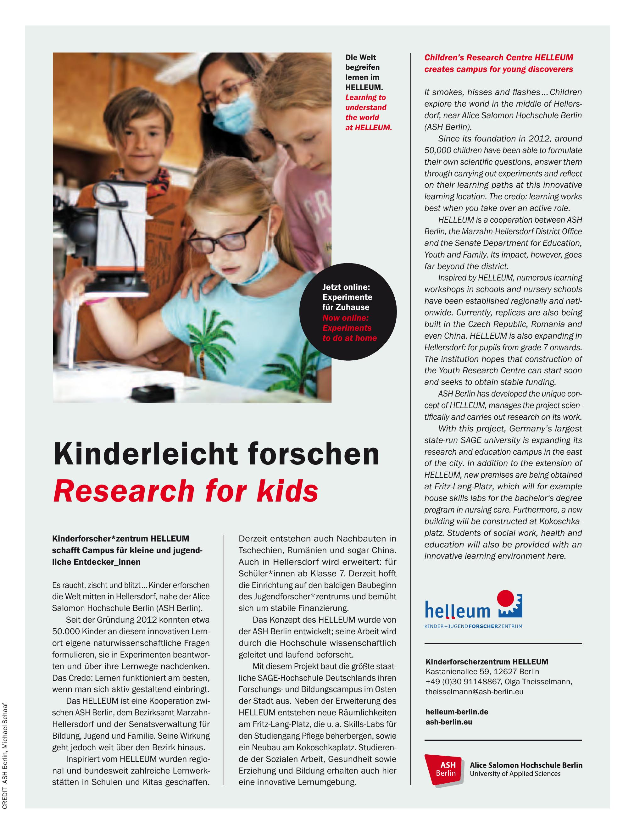 Kinderforscherzentrum HELLEUM