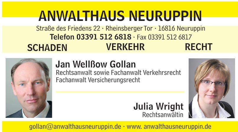Anwalthaus Neuruppin - Jan Wellßow Gollan