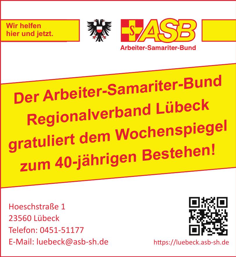 Arbeiter-Samariter-Bund Landesverband Schleswig-Holstein e.V. Regionalverband Lübeck