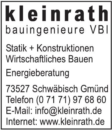 Kleinrath Bauingenieure VBI