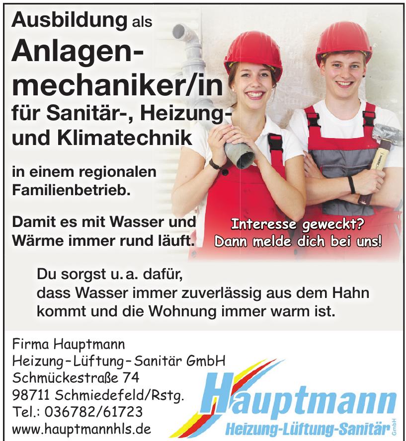 Firma Hauptmann Heizung – Lüftung – Sanitär GmbH