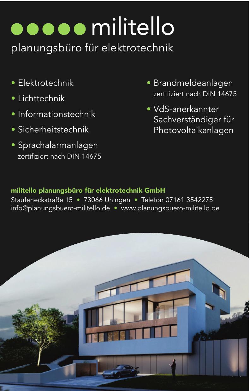militello planungsbüro für elektrotechnik GmbH