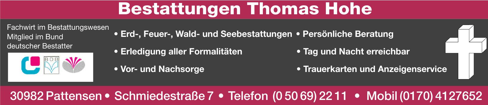 Bestattungen Thomas Hohe