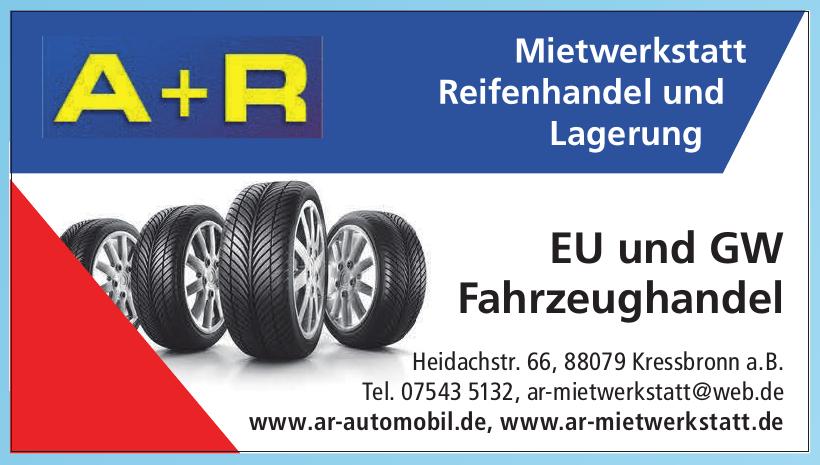 A+R Mietwerkstatt Reifenhandel und Lagerung