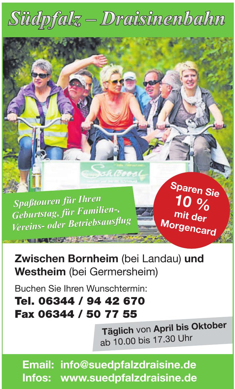 Südpfalz - Draisinenbahn