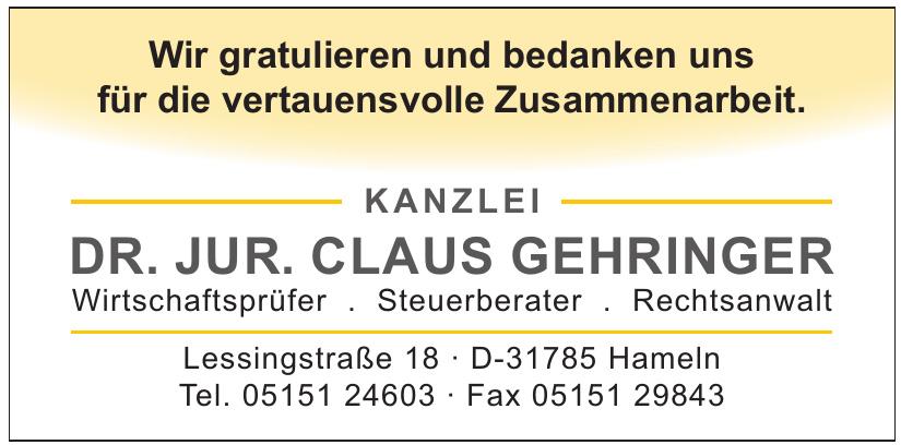 Dr. jur. Claus Gehringer