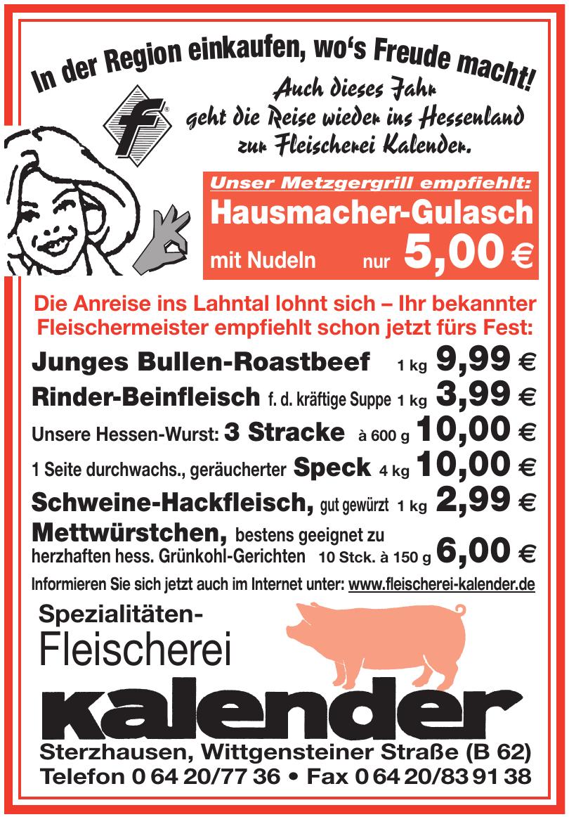 Fleischnerei Kalender