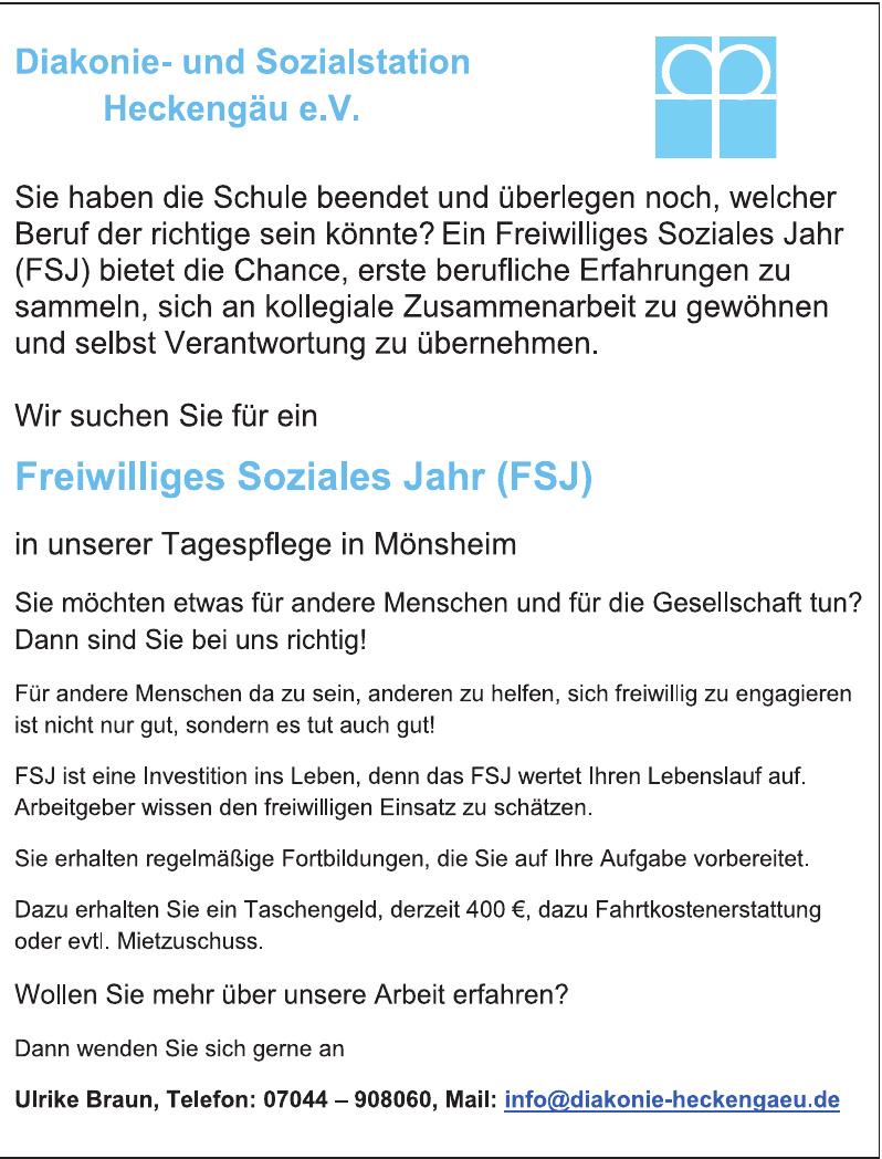 Diakonie- und Sozialstation Heckengäu e.V.