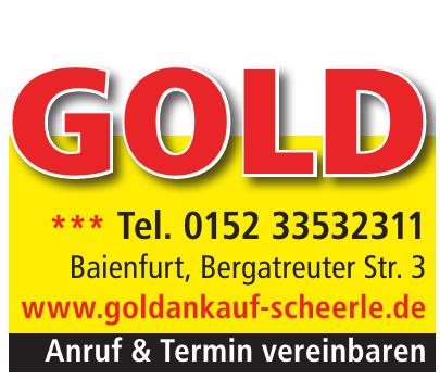 Goldankauf Scheerle