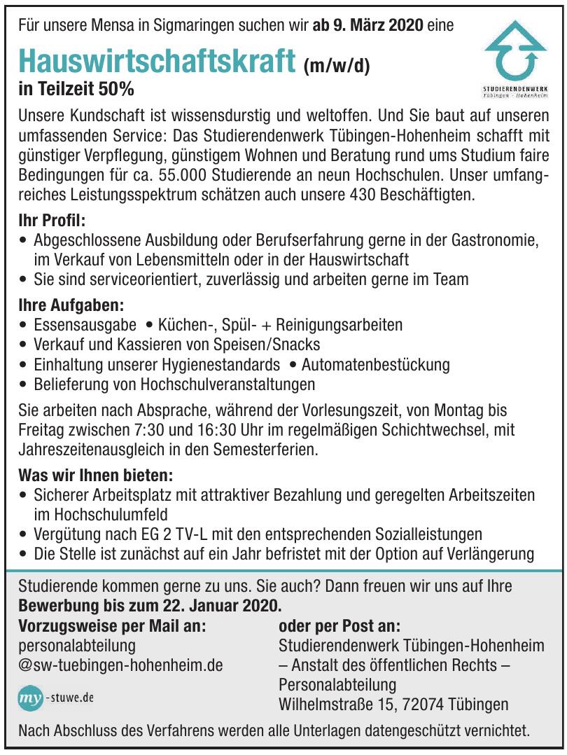 Studierendenwerk Tübingen-Hohenheim