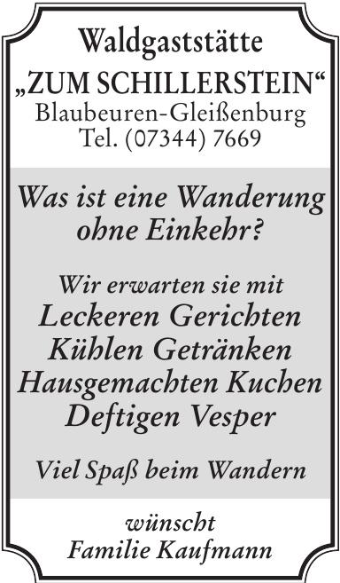 """Waldgaststätte """"Zum Schillerstein"""""""