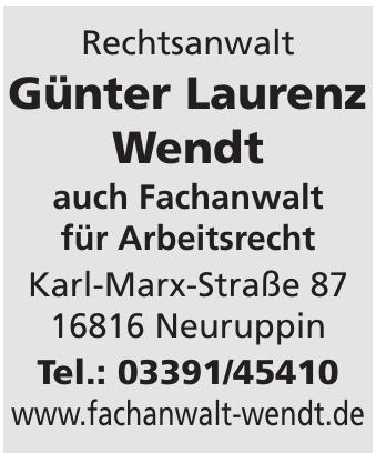 Rechtsanwalt Günter Laurenz Wendt